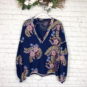 Romeo+Juliet couture floral embroidered blouse M